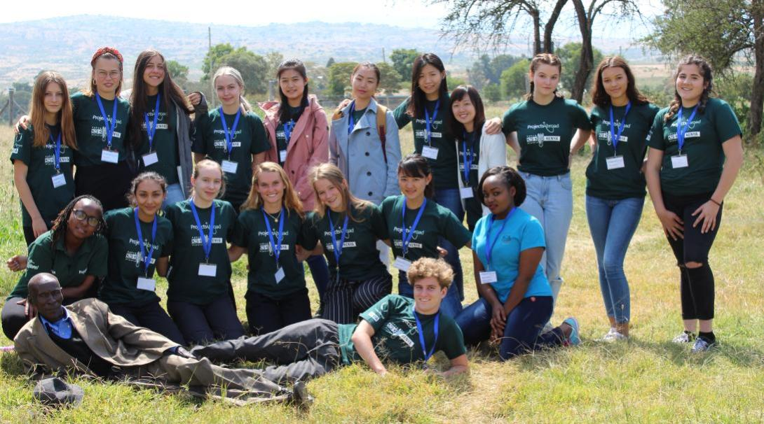 Volunteers and local staff before a medicine outreach in Kenya